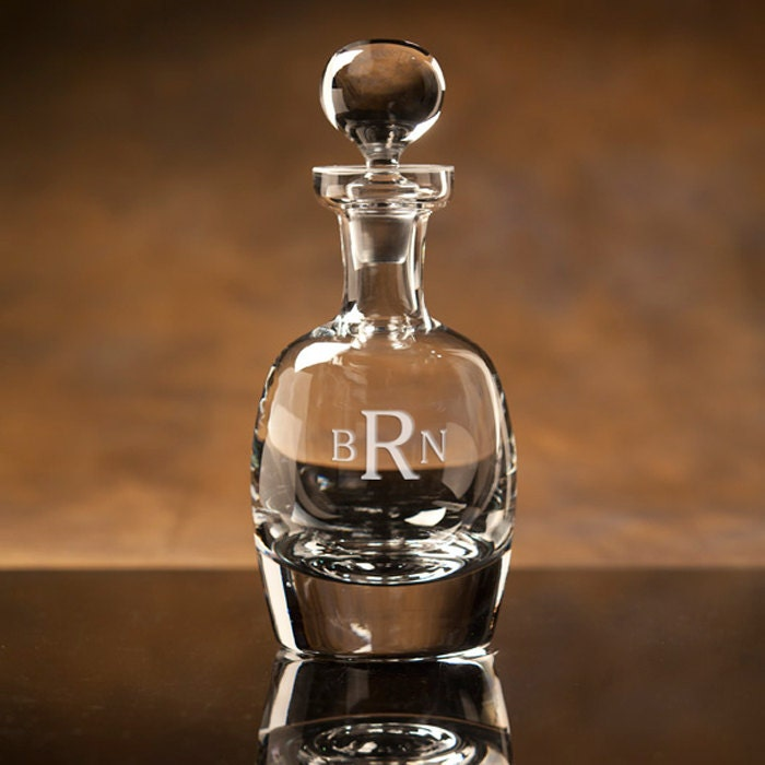 Personalized Engraved Scotch Whiskey Decanter By
