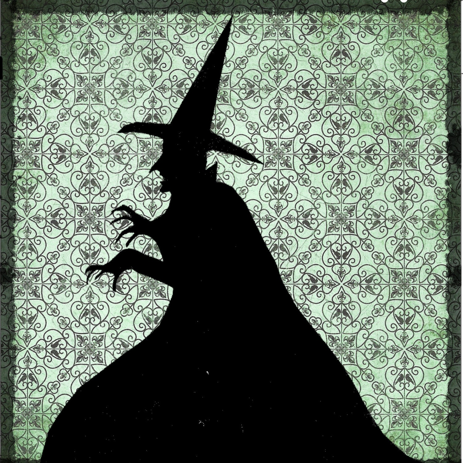 Items similar to The Wicked witch, home decor ready to hang on Etsy