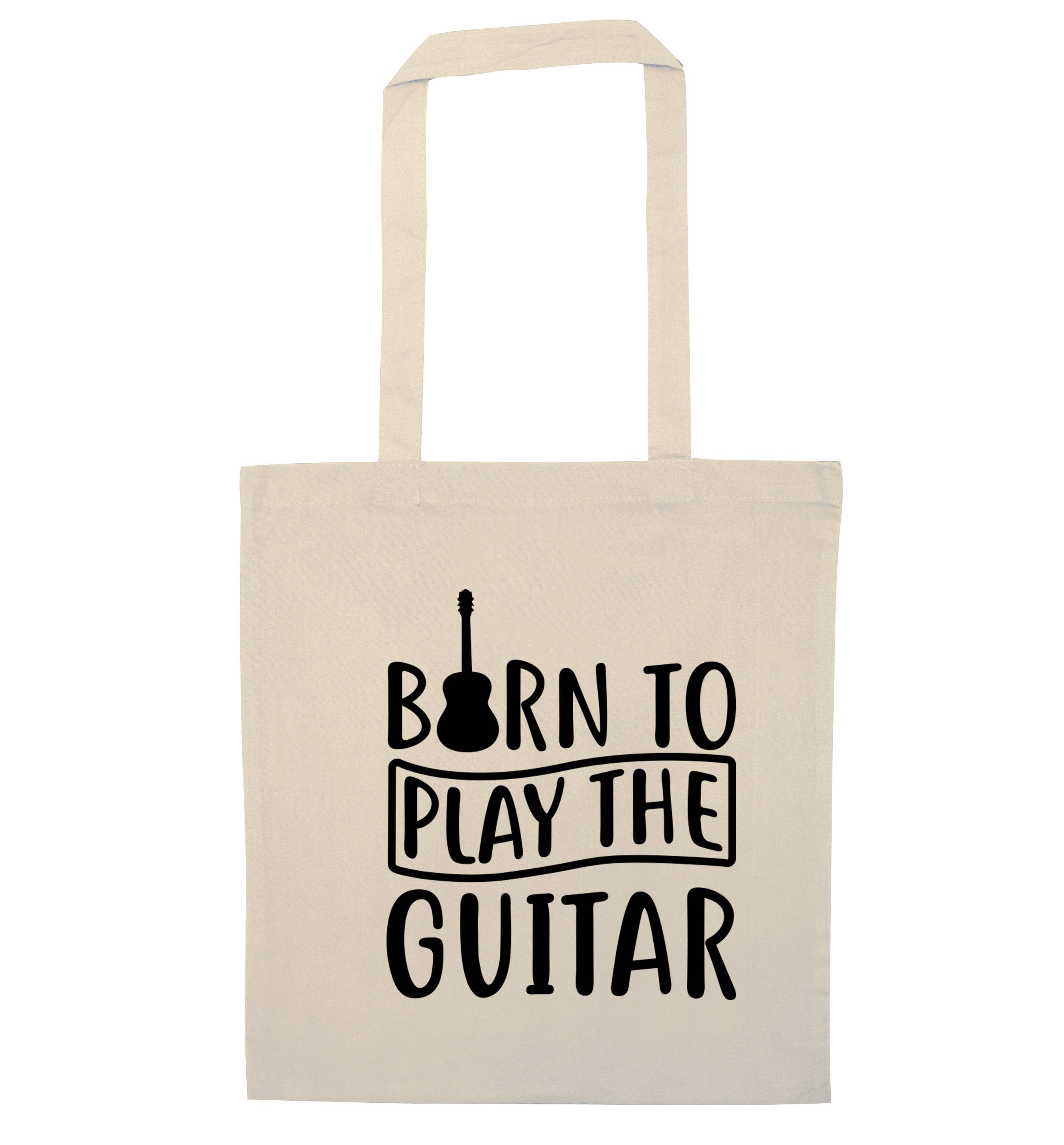 Born to play the guitar tote bag electric bass acoustic instrument play music lyrics song musician funny tumblr instagram hipster 4010