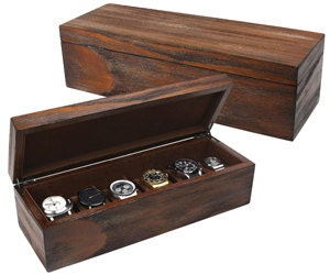 personalized men s leatherette watch box watch case box engraved watch display gift for husband or father rustic wood personalized