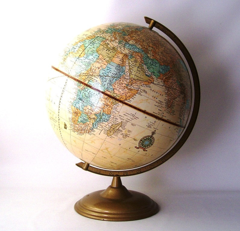 Vintage Globe Cram 39 S Imperial World Globe By Recyclebuyvintage