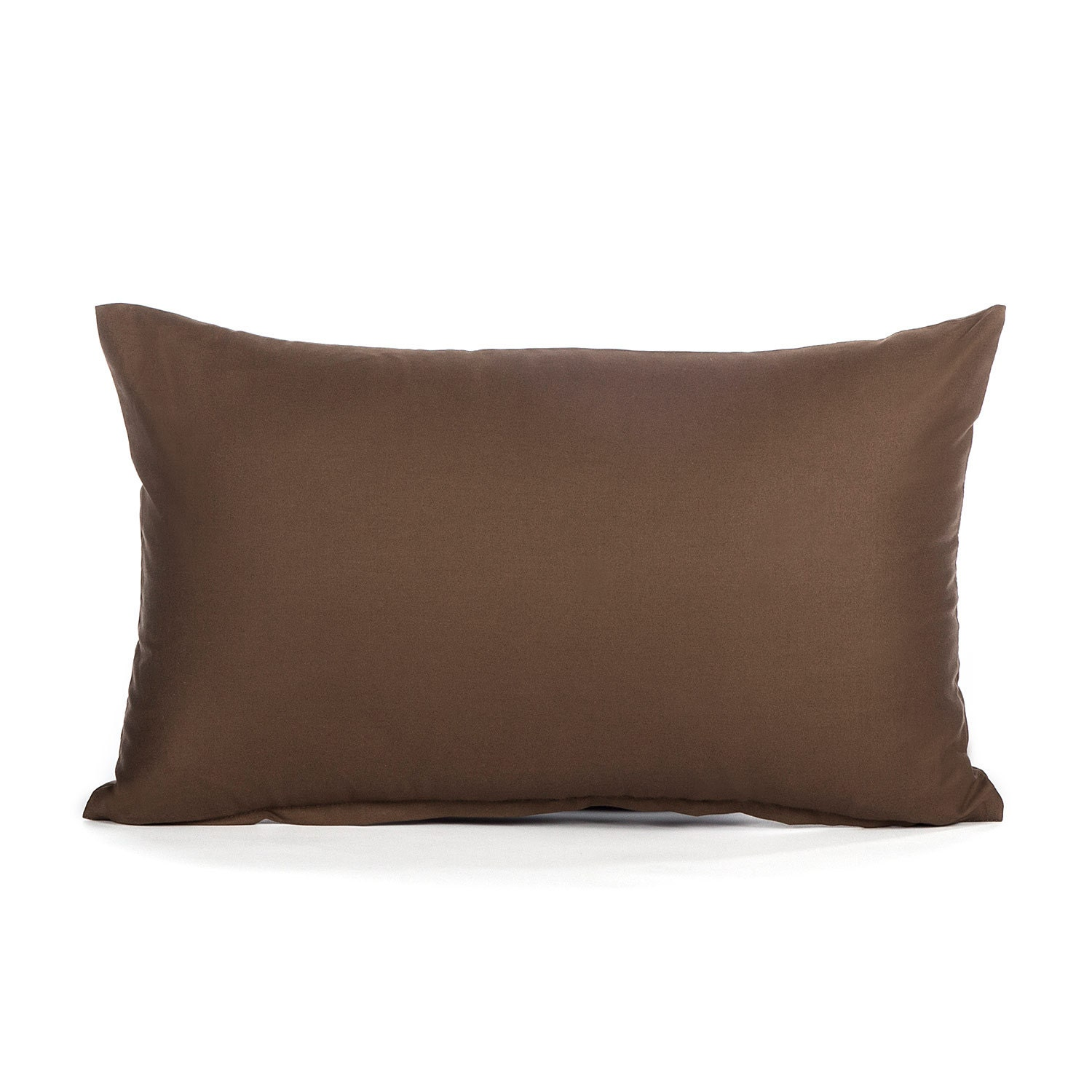 12 x 20 Solid Brown Oblong / Lumbar Throw Pillow Cover by BHDecor