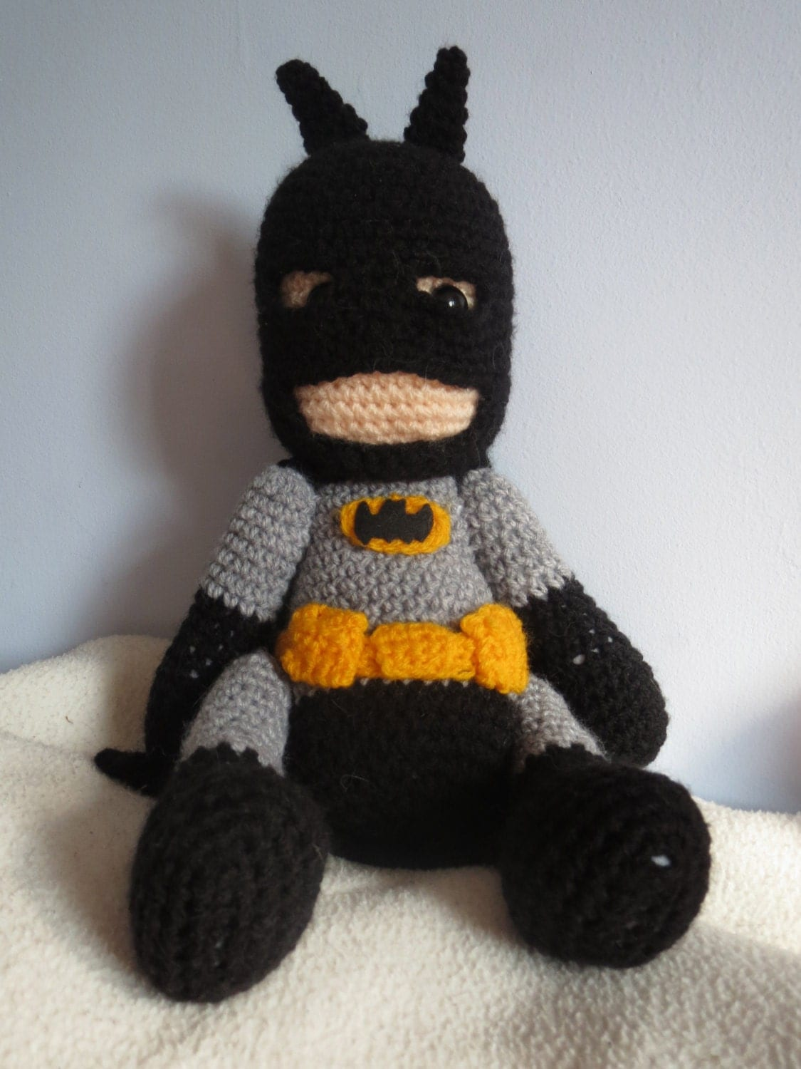 Amigurumi Crochet Batman : Batman crochet amigurumi D.C doll by JustAddAwesome on Etsy