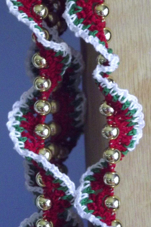 Crochet christmas garland spiral by customcrochetcreate on etsy