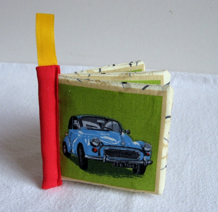 Baby soft cloth toy book in Classic Cars design