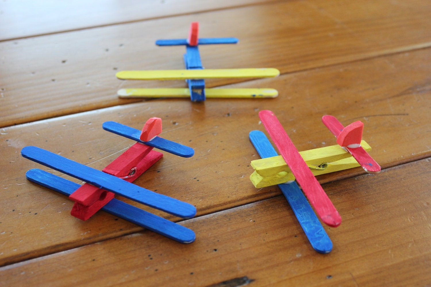 Clothespin Airplane Kids Craft Kit Makes 4 planes by ...