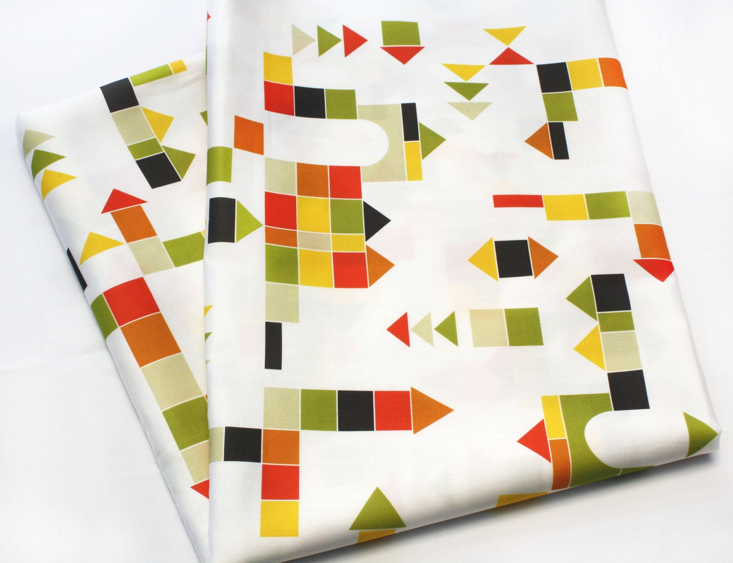 "Children's fabric ""Building Blocks"" perfect for modern baby bedding - (Fat Quarter) Cotton Sateen- Ready to ship"