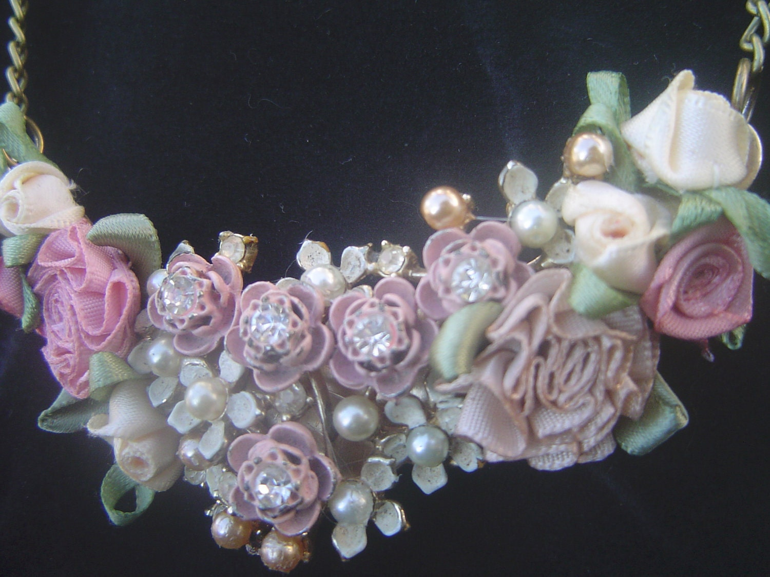 Fairy Tale Necklace-Ophelia's Garland: Romantic Floral Necklace