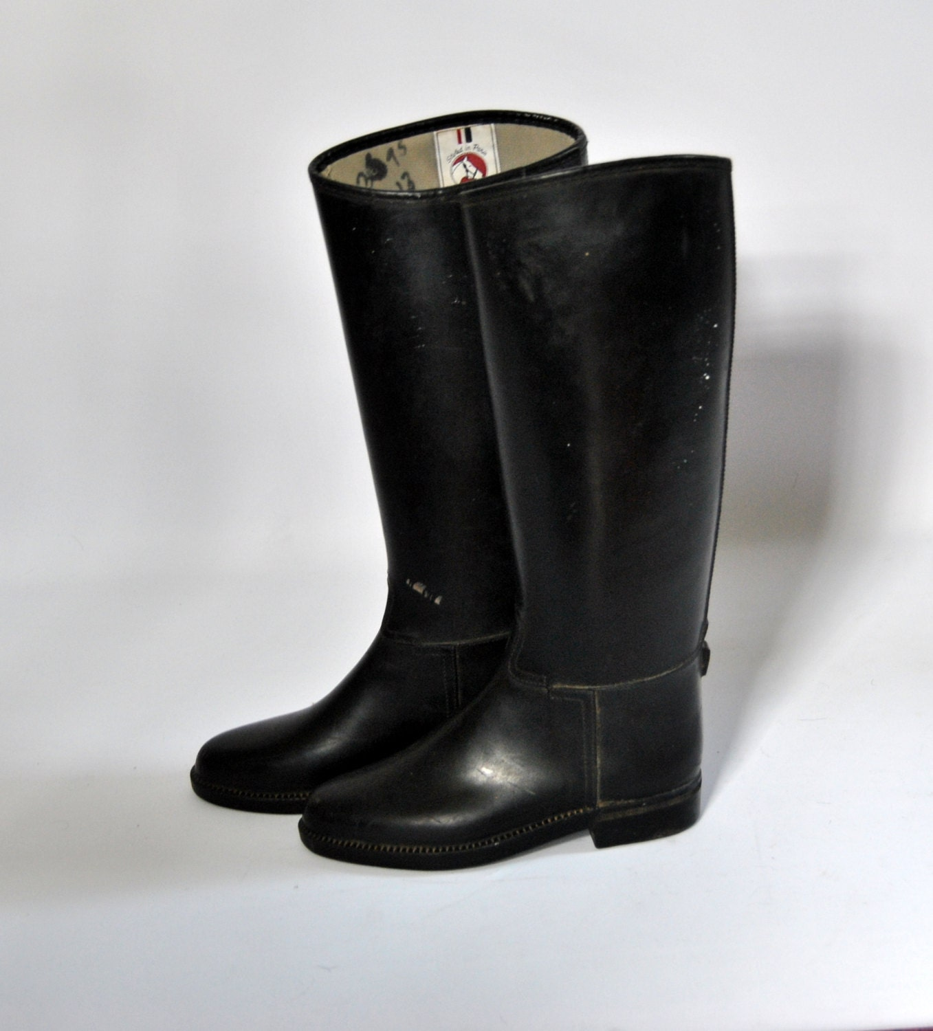 rubber equestrian boots size by