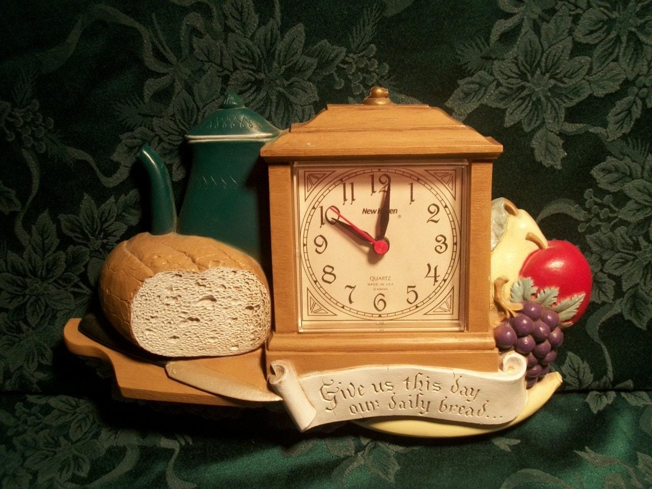 Home Decor Kitchen Clock Wall Decor Clock Retro by TKSPRINGTHINGS