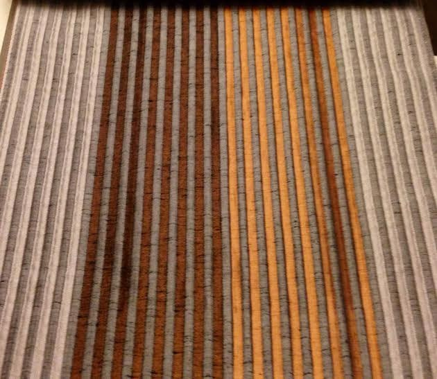 custom rust orange curtains with small stripe pattern one 50in w x