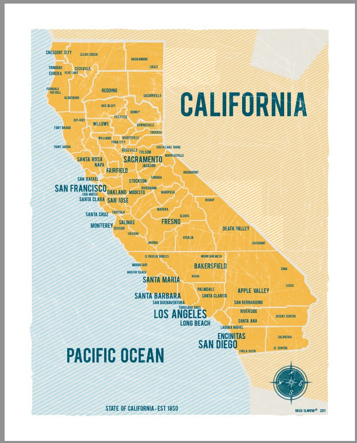 It's just a photo of Breathtaking Printable Map of California
