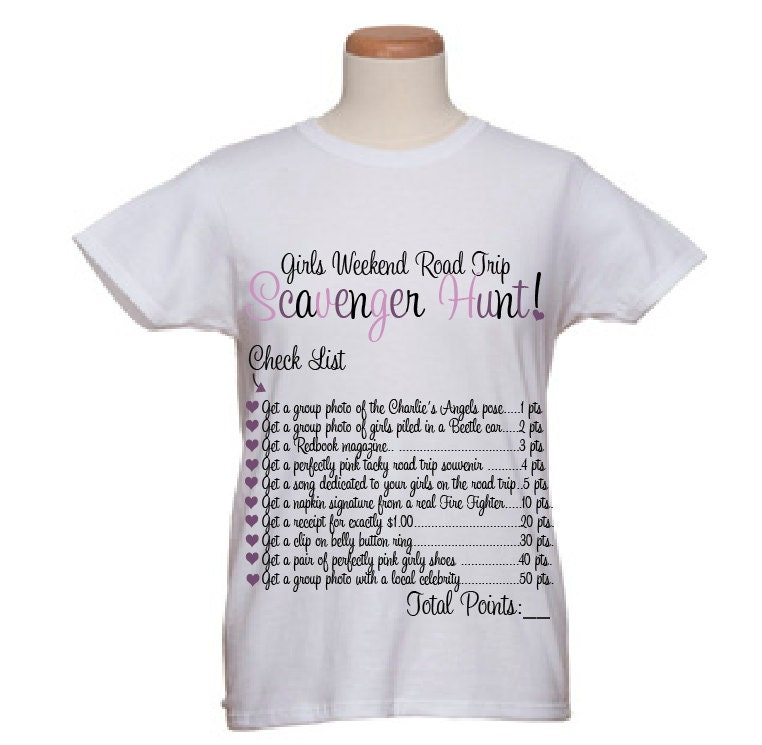 Event t shirts girls weekend road trip by wicksncandlesticks for Travel t shirt design ideas