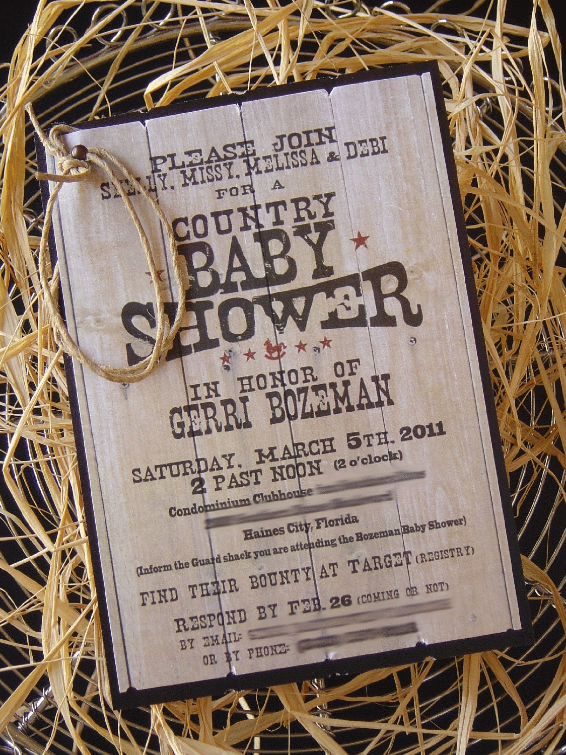 Country Baby Shower Invitations can inspire you to create best invitation template