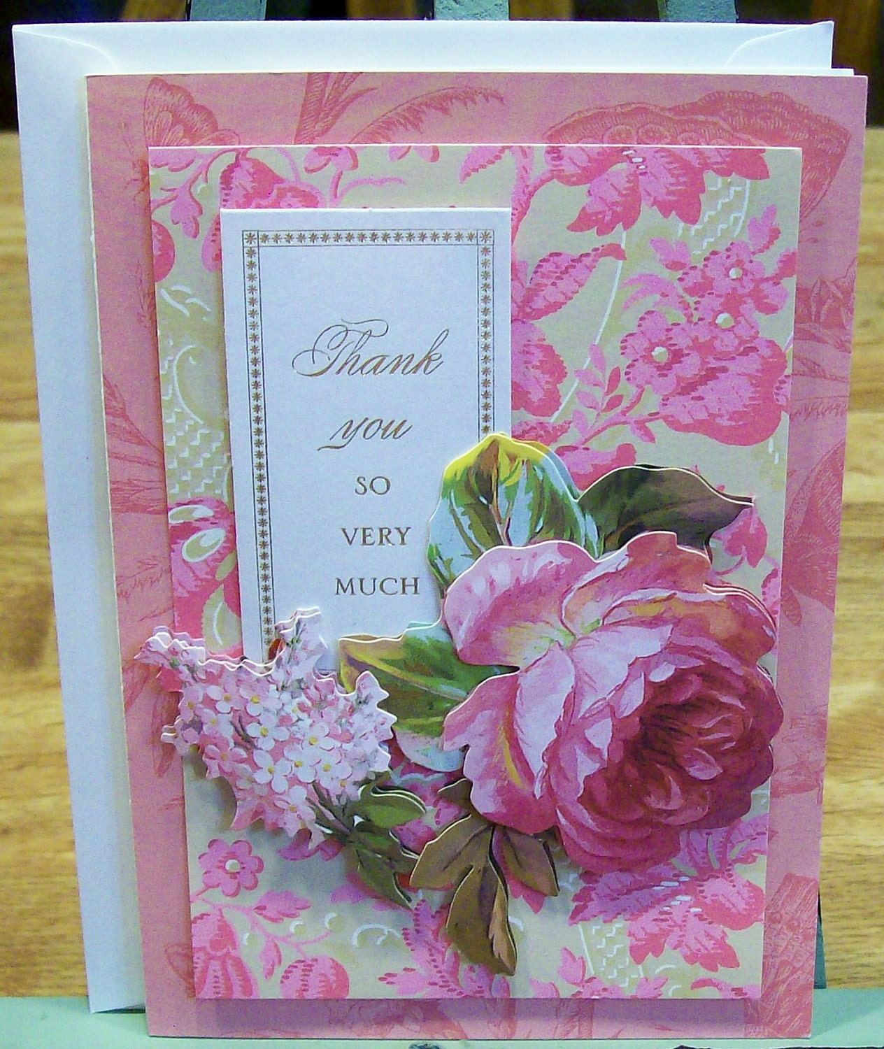 Handmade Thank You Card Anna Griffin Design And By Claynfaye