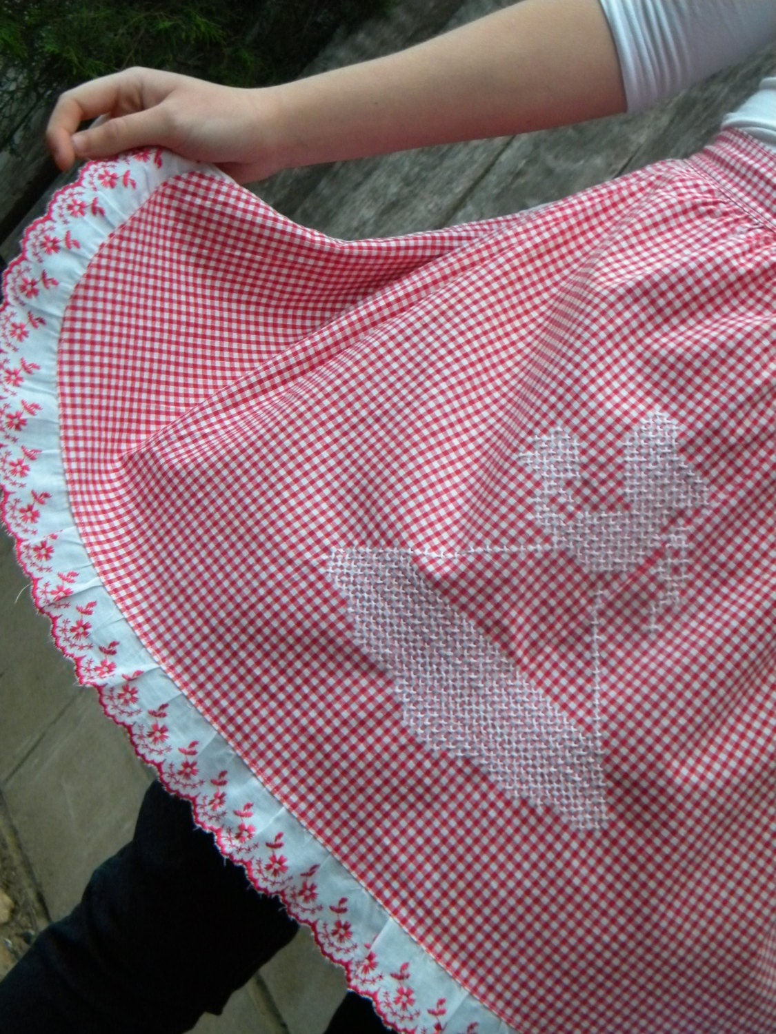 Vintage Red Gingham  Apron