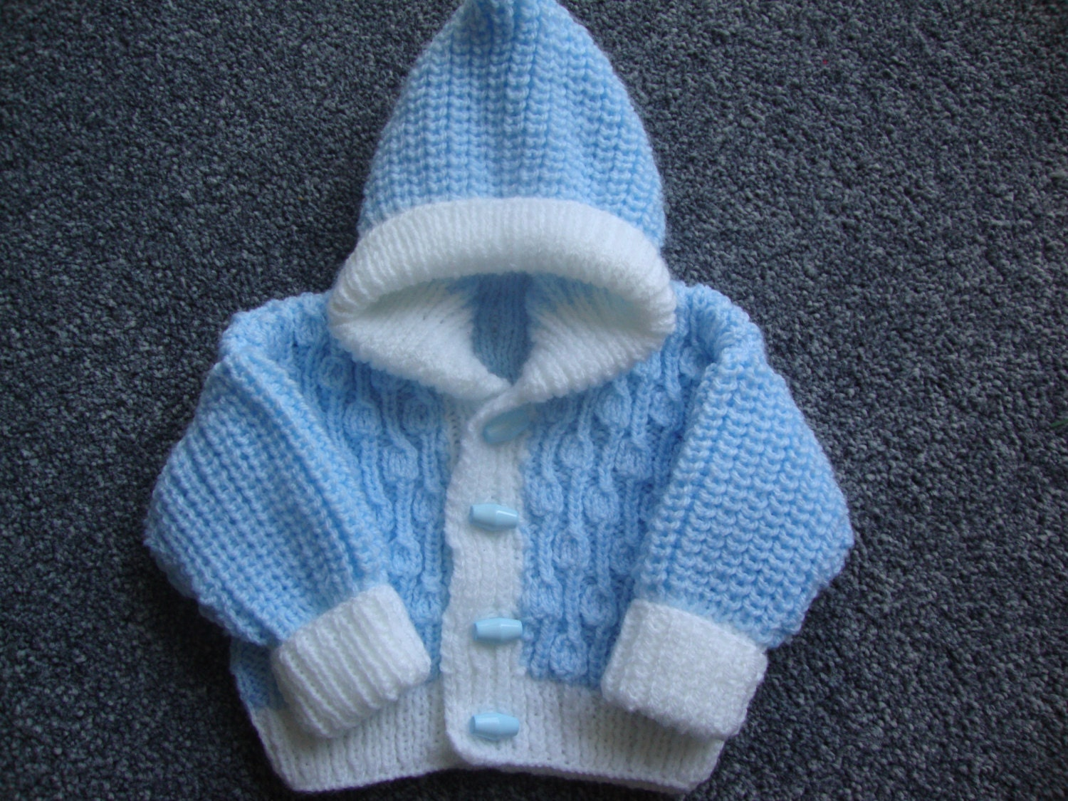 Baby Hooded Jacket   Knitted Baby Coat  Hooded Coat  Baby Hoodie  Knitted Cardigan  Baby Cardigan  Hooded Jacket