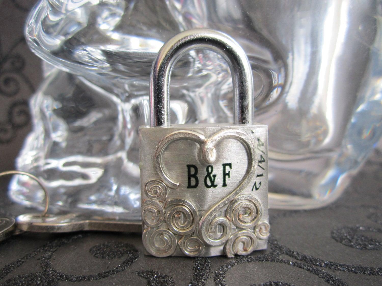 Custom Monogram Lock Wedding Card Box Lock Lock By KaylenaDesigns