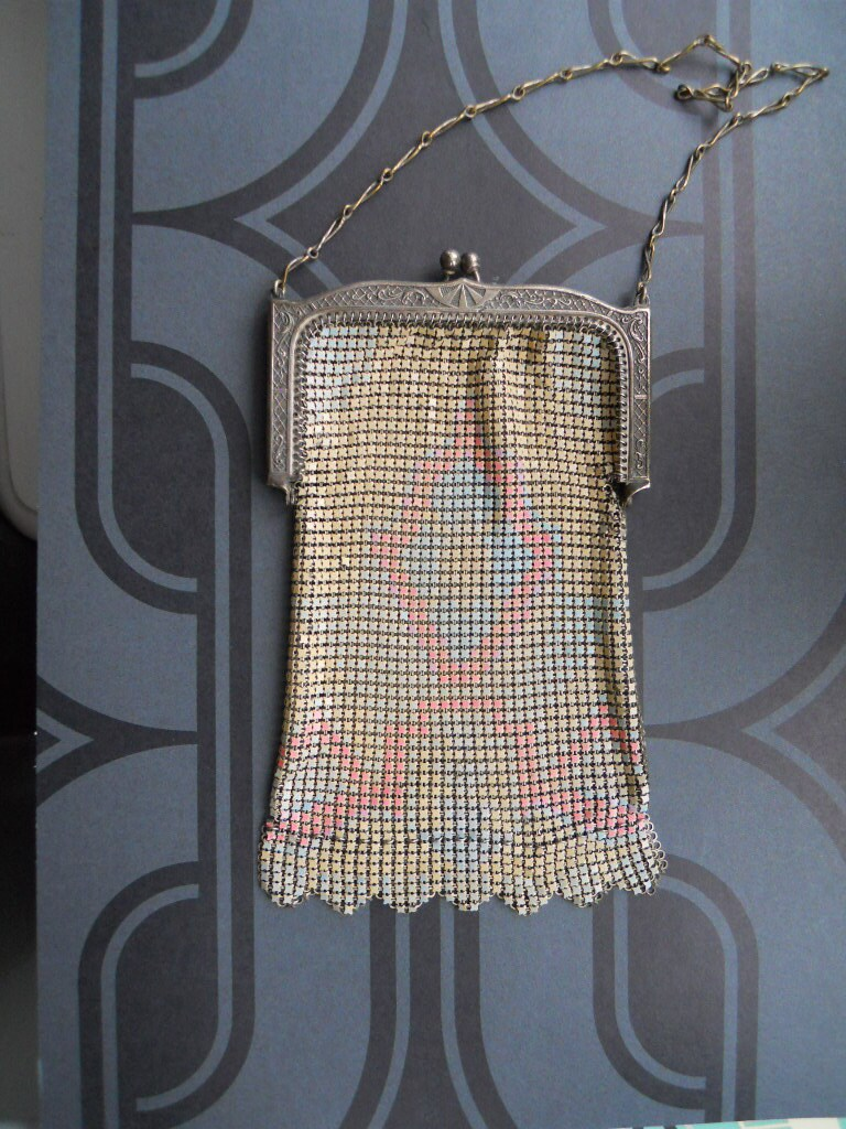 items similar to whiting and davis mesh purse bag deco