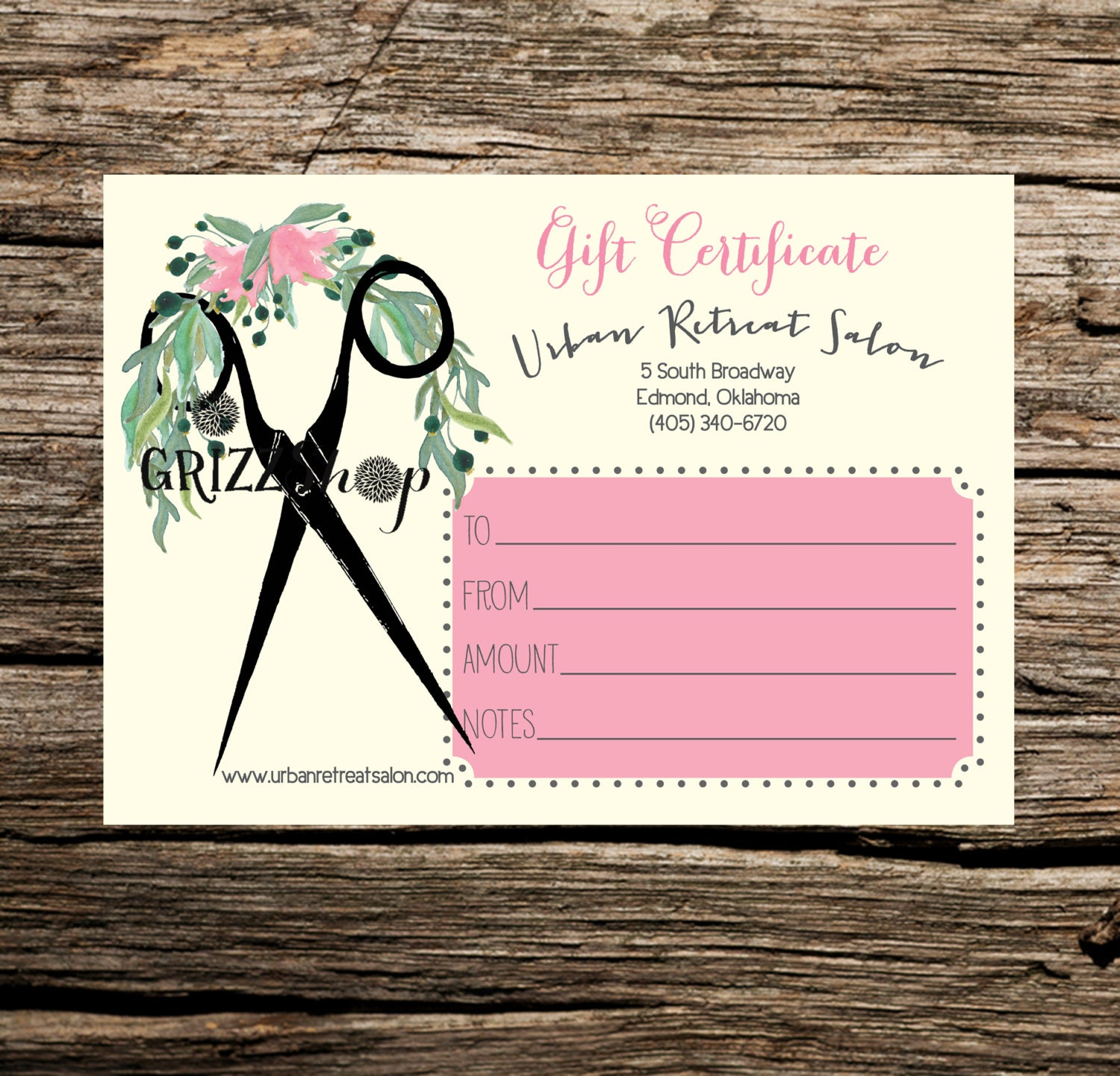 set of 50 salon gift certificates by grizzshop on etsy