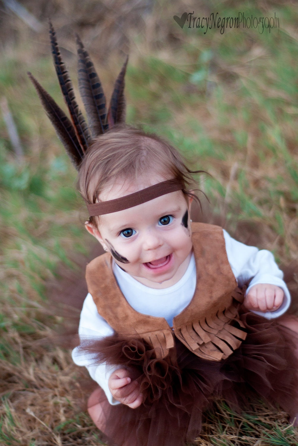 Indian headband, Indian headress, feather headband, indian costume,silk flower flower, brown headband, any size, newborn, photo prop - lexicouture
