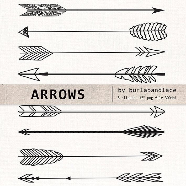 Hand Drawn clipart arrows, arrows clipart, Navaho clipart, arrows ...
