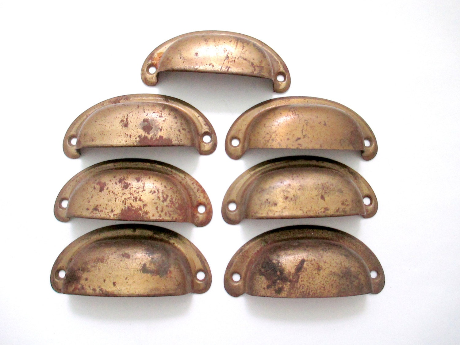 Vintage Rustic Bin Or Drawer Pulls 2 3 8 Centers Lot By