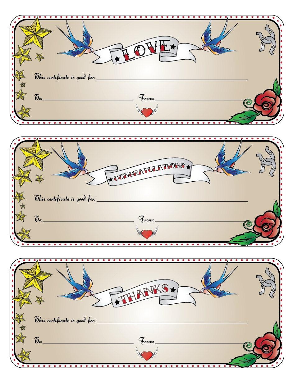 tattoo gift certificate template - free printable reiki gift certificate joy studio design