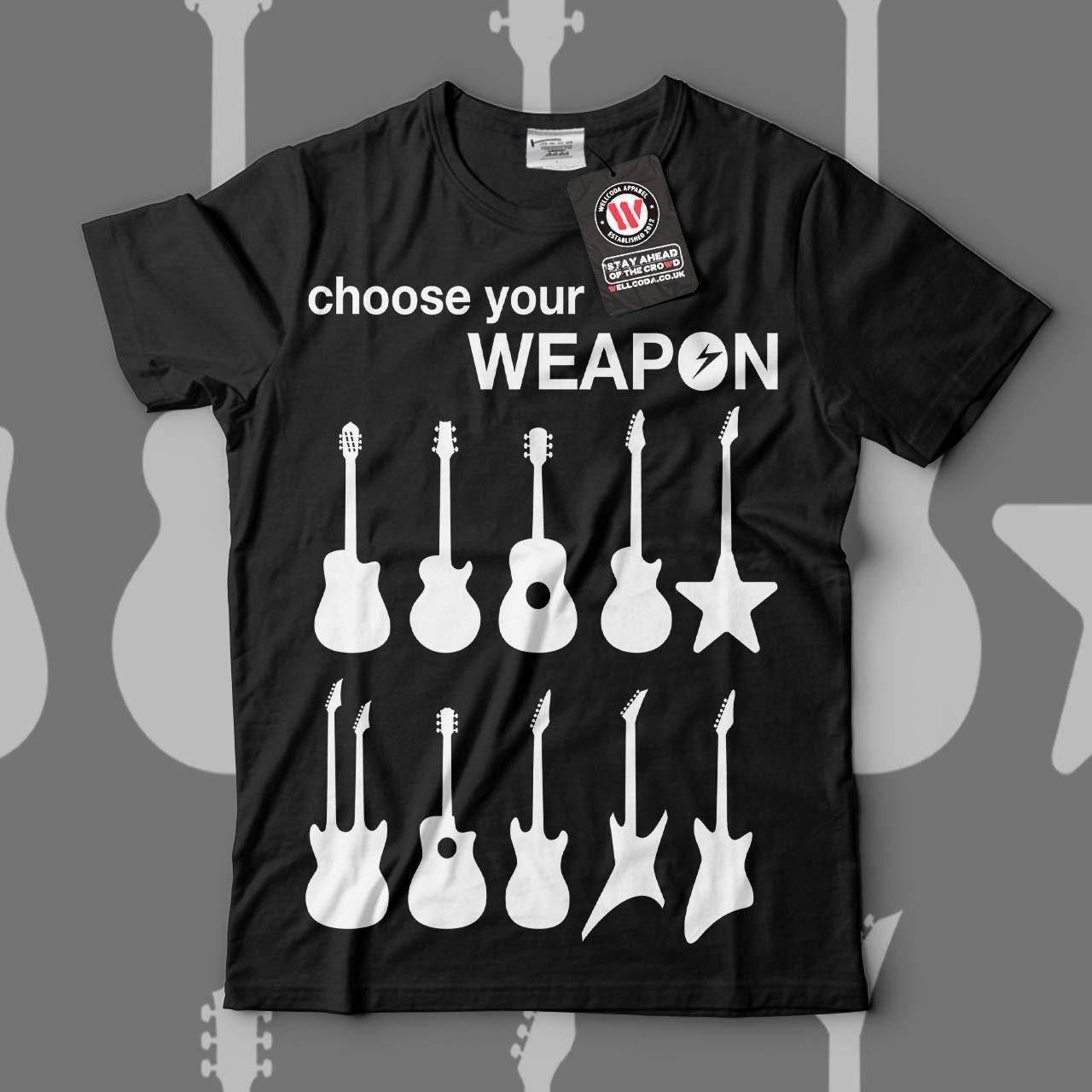 Instrument Artwork Guitar Music Men Black White Grey Red Royal Blue Tshirt S5XL NEW  Wellcoda y833