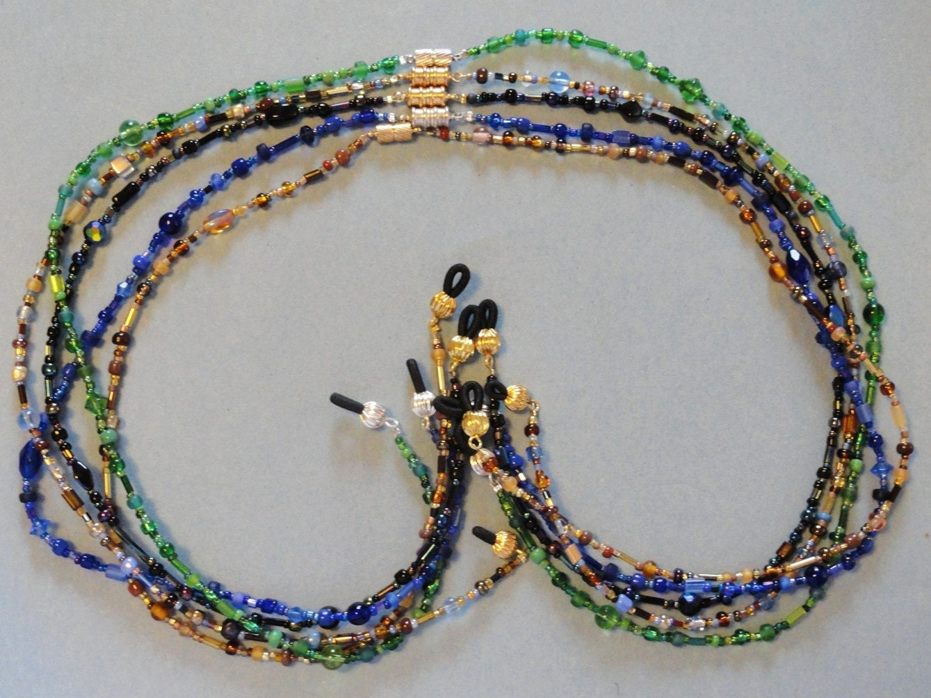 beaded eyeglass holder magnetic away by