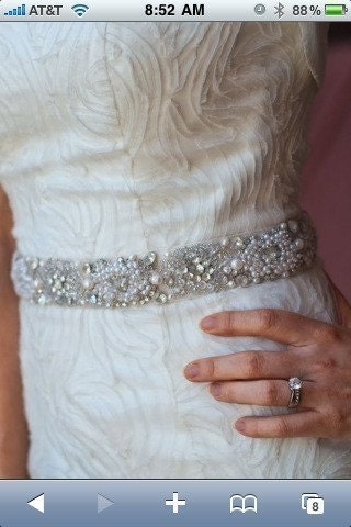 BALANCE on CUSTOM LISTING for Natasha118 - Rhinestone, pearl and silver beaded bridal sash or belt with tulle overlay for your wedding gown or favorite dress
