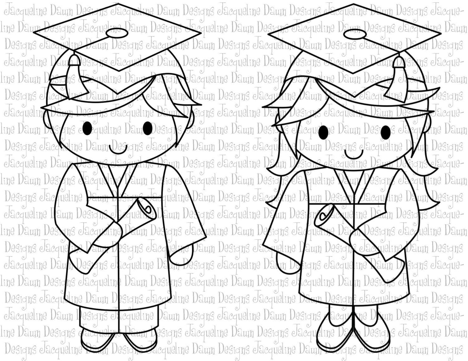coloring pages of graduation - photo#17