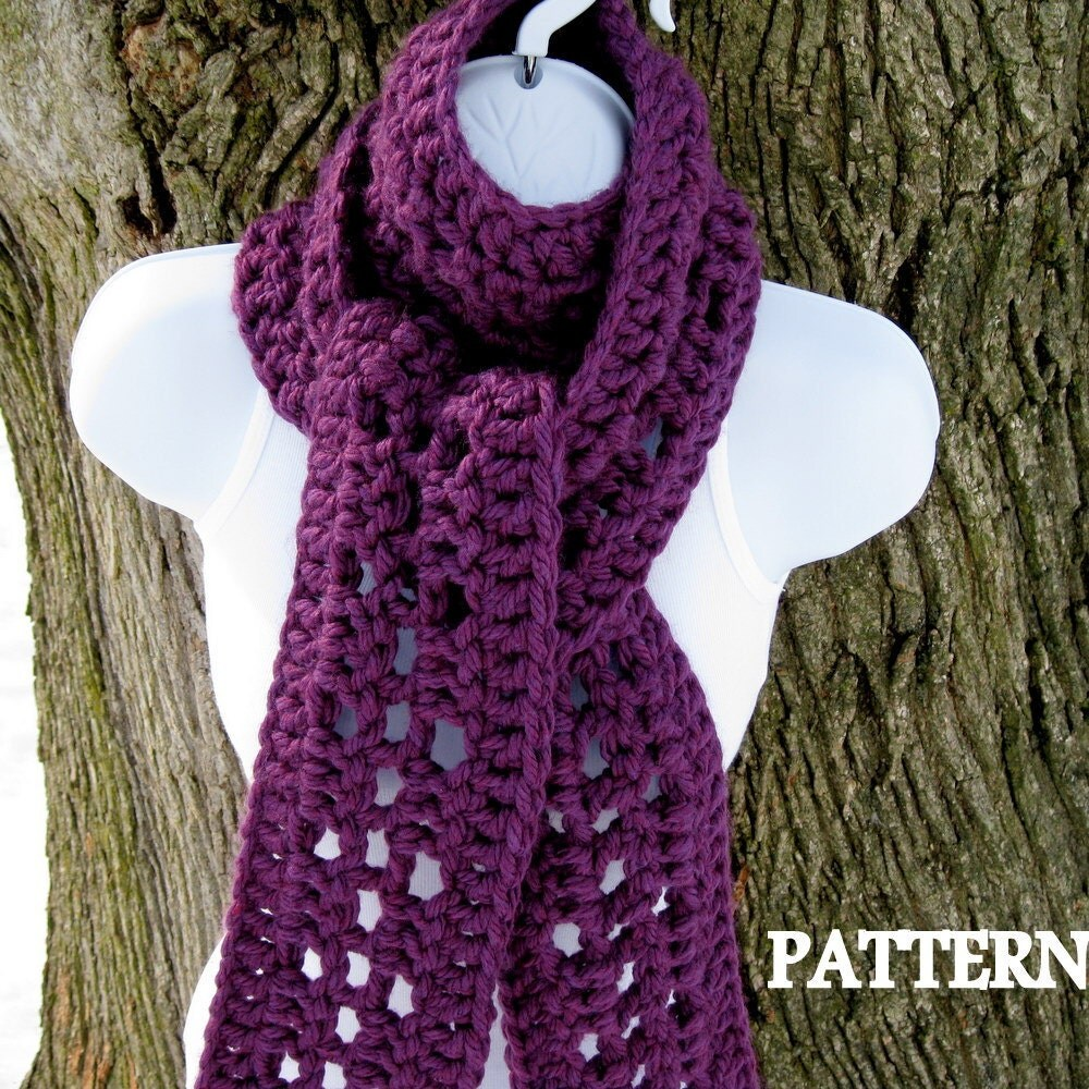 Crochet Shawl Patterns With Bulky Yarn : Scarf Crochet Pattern Crochet Patterns Bulky by SeeJaneCrochet
