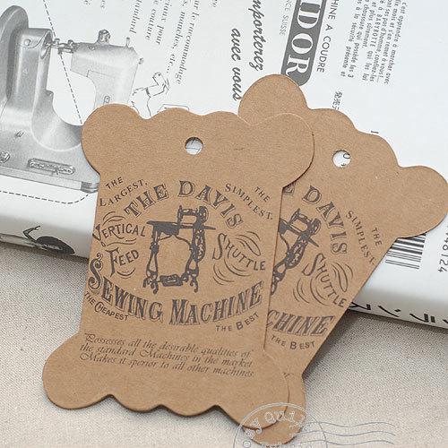 Kraft Cardboard Bobbin - Antique Sewing Machine