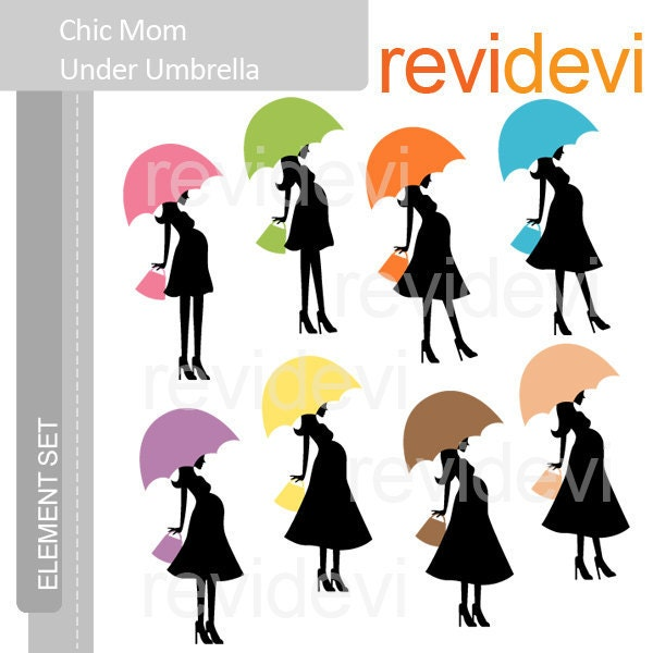 Couple Silhouette Umbrella Clip Art Favorite · clipart chic mom