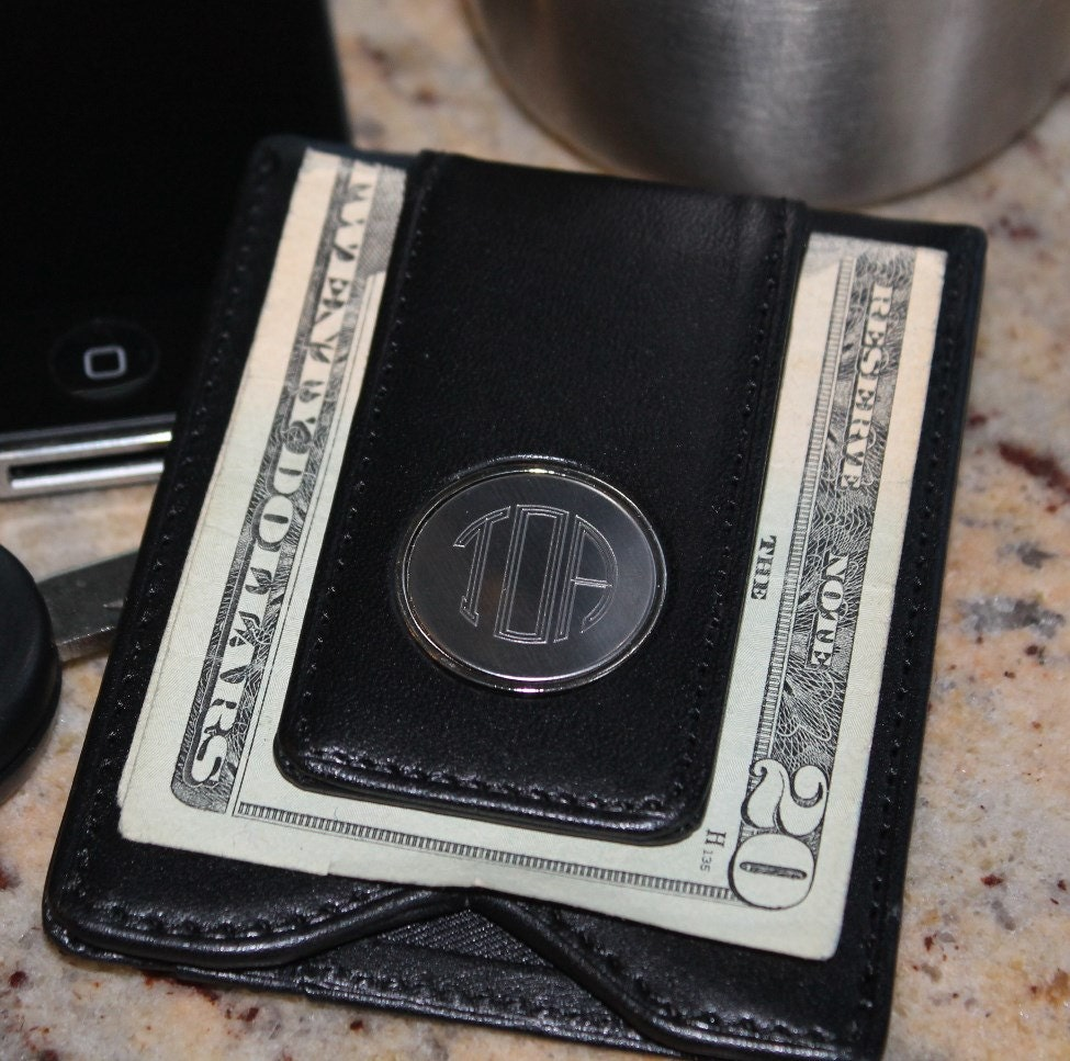 Personalized Leather Money Clip And Wallet By MyPersonalMemories