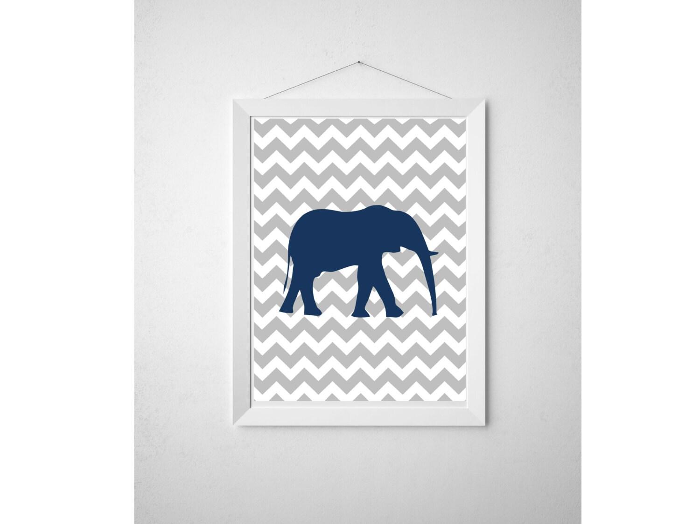 Diy chevron elephant printable wall art by designsbyjamieirene for Diy chevron wall art