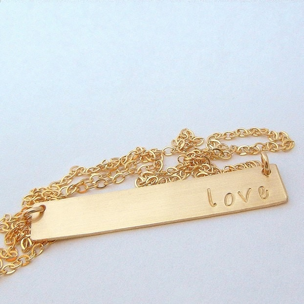 gold bar necklace name necklace personalized gold by