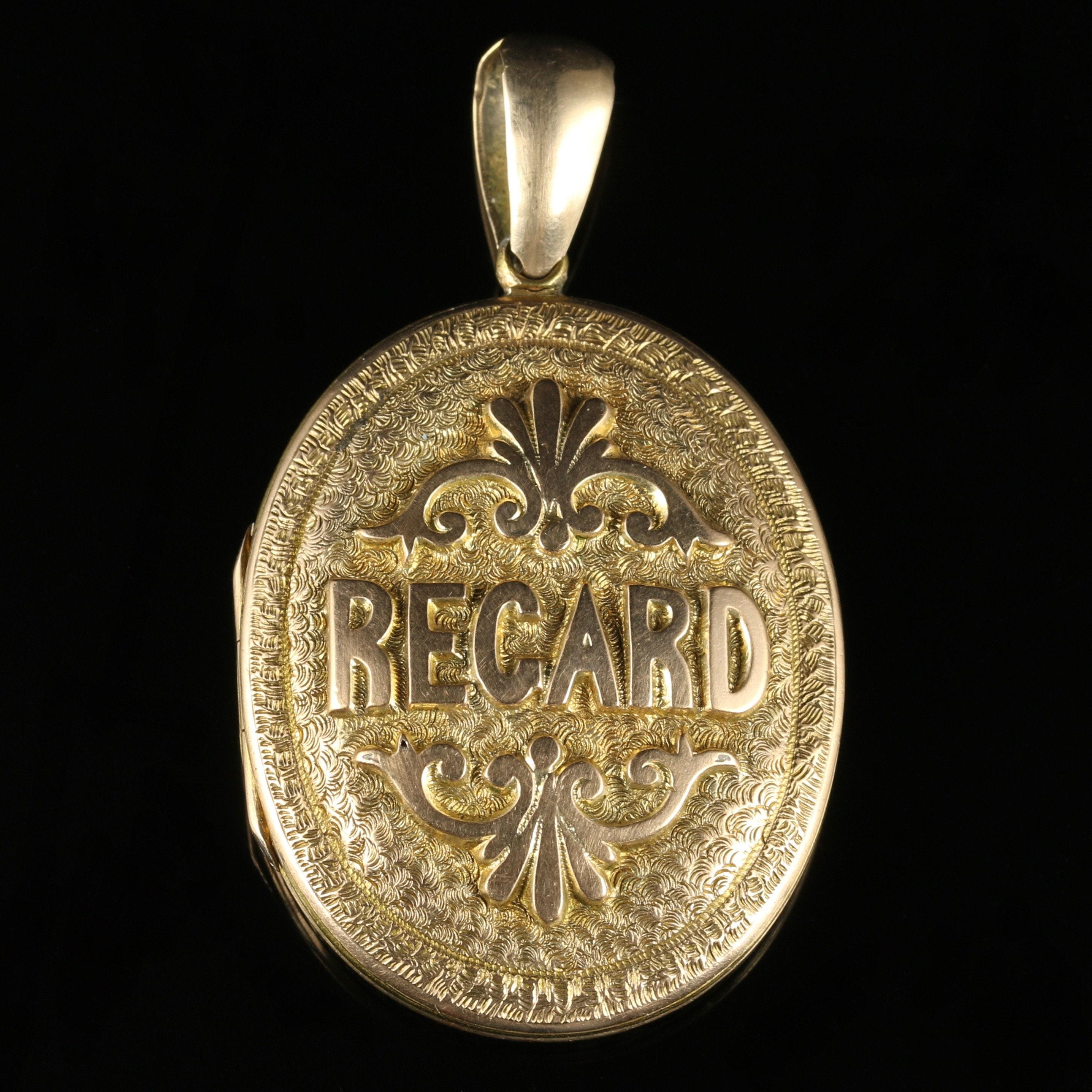 Antique Victorian Regard Locket 9ct Gold Circa 1900