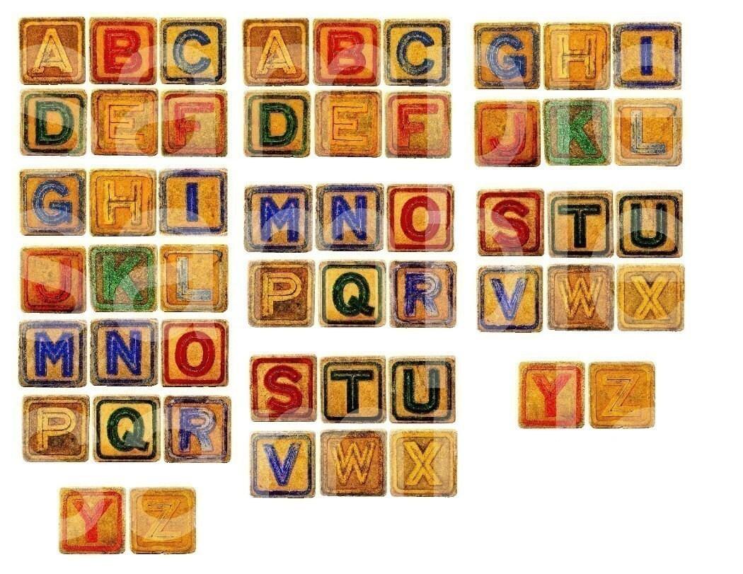 Items Similar To Vintage Childrens ABC Alphabet Toy Letter