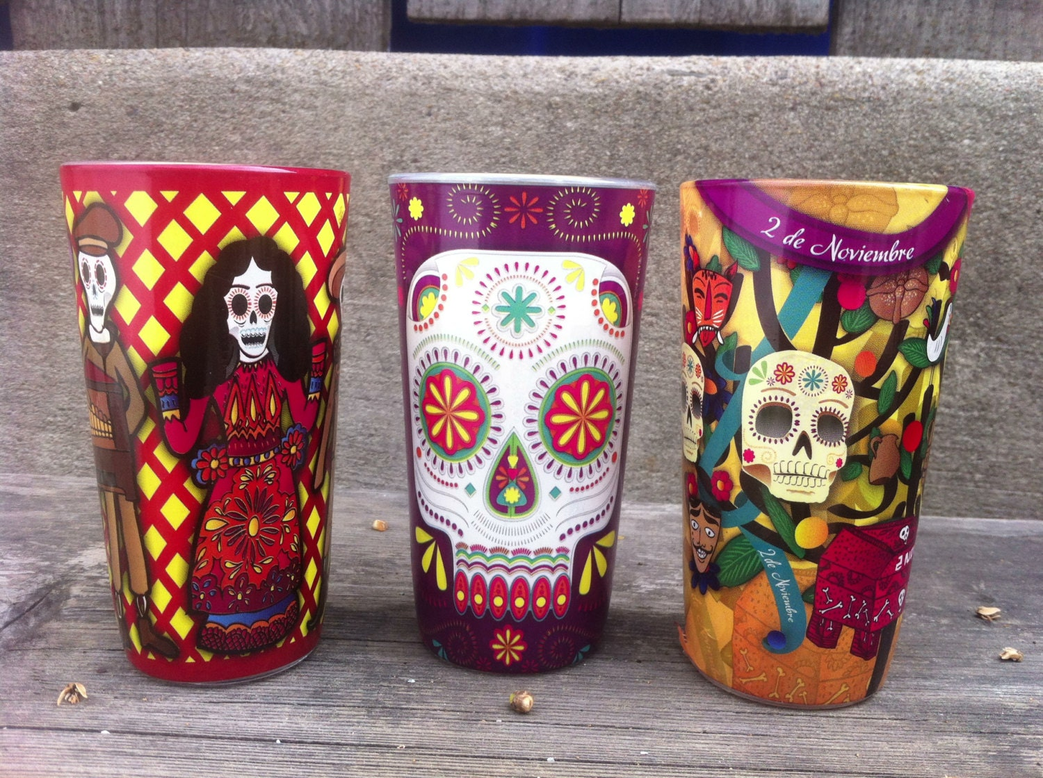 Dia de Los Muertos Candle Set by TheHodgePodgeShopSD on Etsy