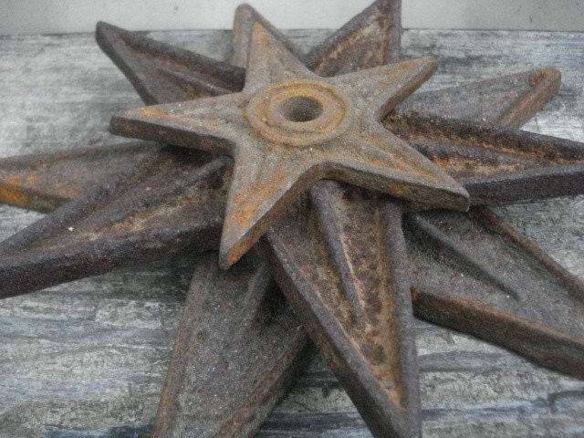 Antique Cast Iron Architectural Stars Set Of By