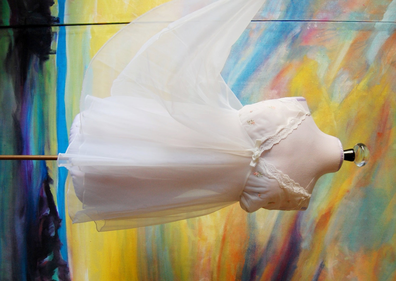 kB · jpeg, White Baby Doll Lingerie Slip by Idylis Size 1X, Plus Size