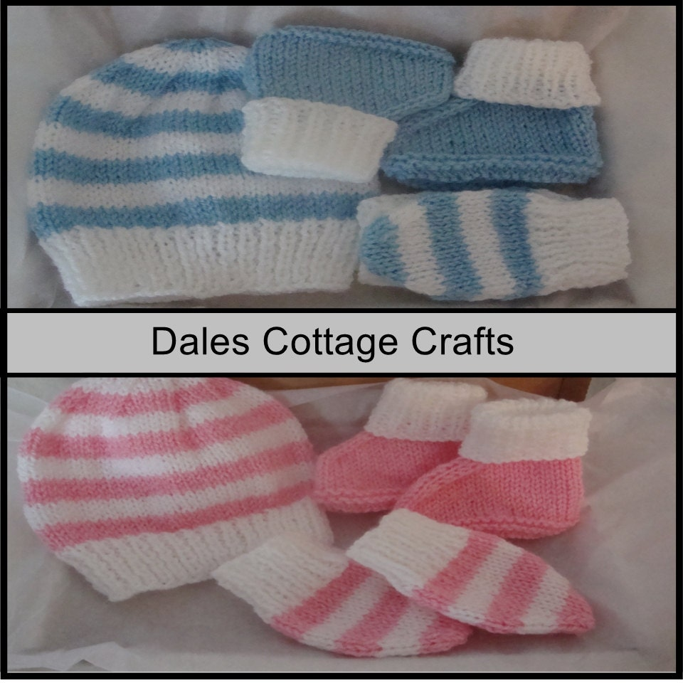 Baby Hat  Baby Boots  Baby Mittens  Hand Knitted Baby Clothes  Knitted Baby Set  Baby Booties  Baby Beanie