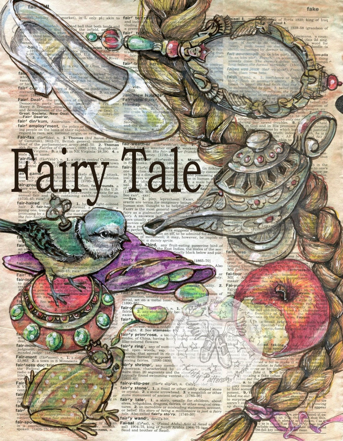 Clever image with printable fairy tales