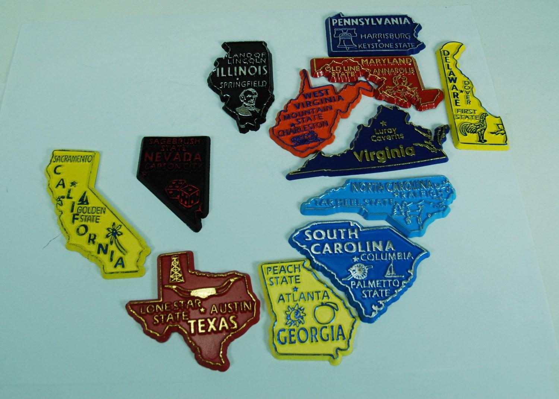 Souvenir magnets states