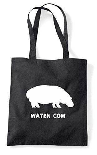 Alternative Animal Names Water Cow Hippo Cute Funny Animal Themed Tote Bag Shopper