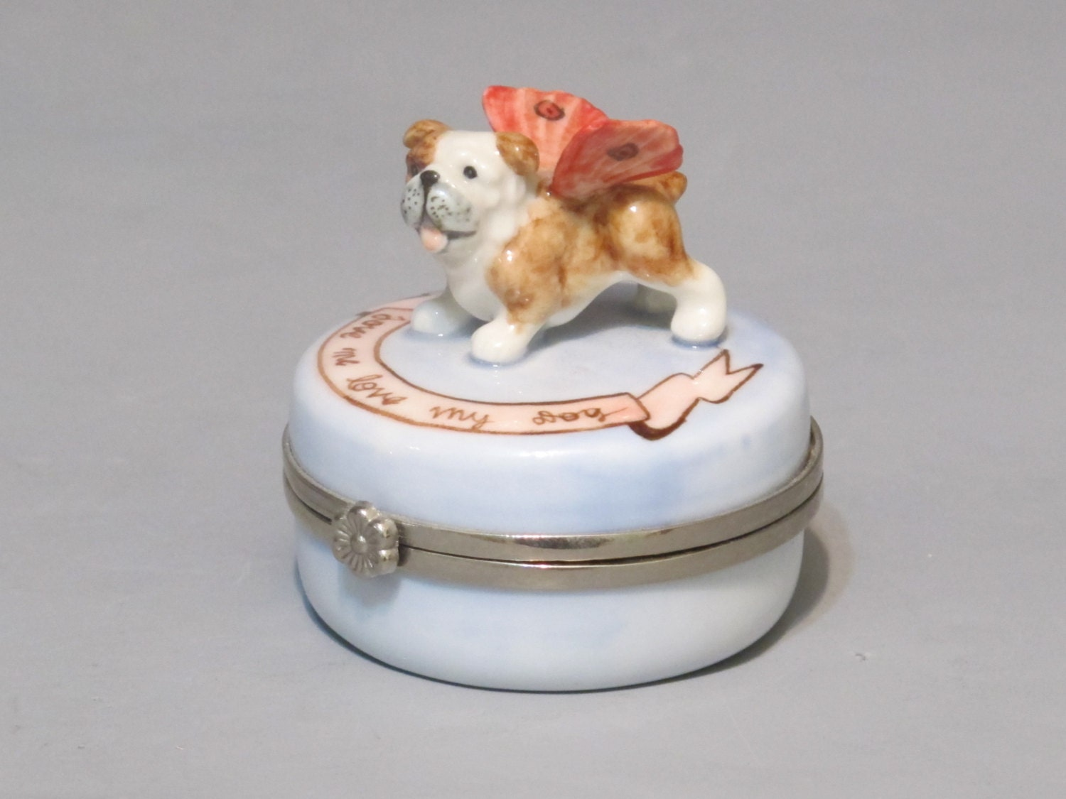 vintage ceramic jewelry box with mirror and by