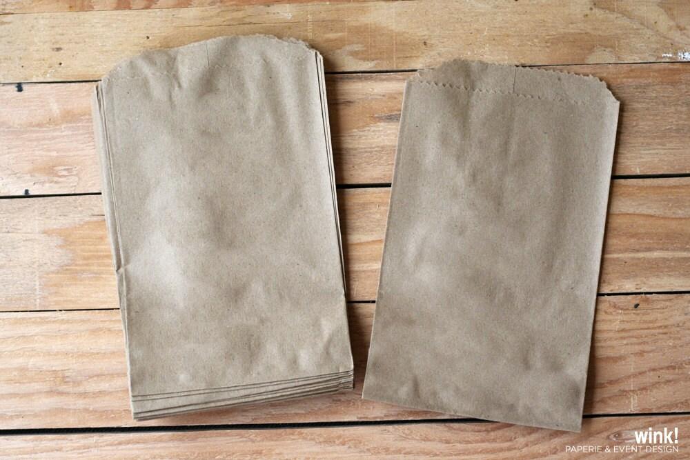 Wedding Favor Bags Paper : / Treat Bags / Kraft Bags / Brown Bags / Paper Bags / Wedding Favor ...