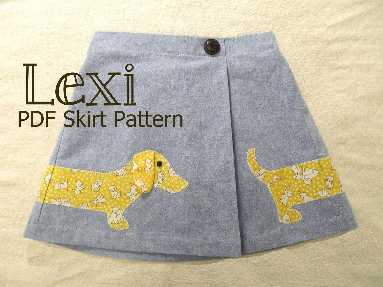 NEW Lexi Side Pleat Skirt PDF Pattern Tutorial, Easy Sew sizes baby girl toddler